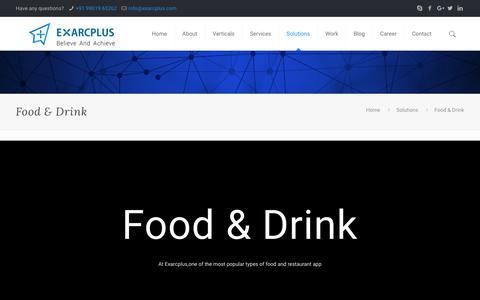 Food & Drink - Exarcplus Mobile Apps Pvt Ltd.