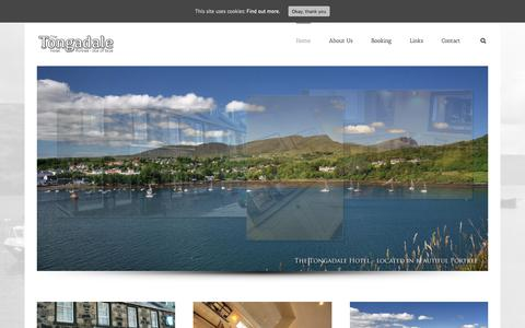 Screenshot of Home Page tongadale-hotel-skye.co.uk - The Tongadale Hotel,  Portree on the Isle of Skye. - captured Oct. 24, 2018