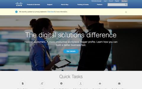 Screenshot of Home Page cisco.com - Cisco Systems, Inc - captured Feb. 18, 2016