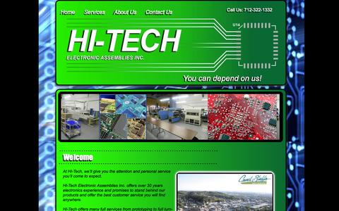 Screenshot of Home Page hteai.com - HI-Tech Electronic Assemblies INC| Council Bluffs, IA 51501 - captured Oct. 1, 2014