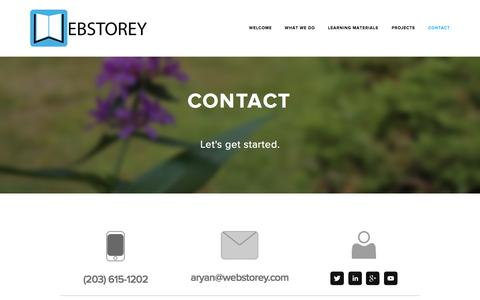 Screenshot of Contact Page webstorey.com - Contact — Webstorey - captured Oct. 29, 2014
