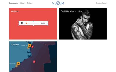 Screenshot of Case Studies Page vuzum.com - Projects Ç  Vuzum - captured Jan. 14, 2016