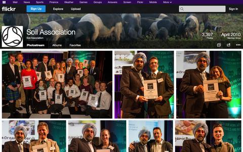 Screenshot of Flickr Page flickr.com - Flickr: Soil Association's Photostream - captured Oct. 26, 2014