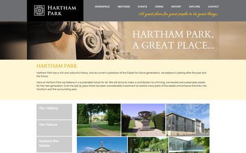 Screenshot of About Page harthampark.com - Hartham Park | Hartham Park - captured Sept. 29, 2014