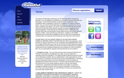 Screenshot of Terms Page rainedout.com - Terms | RainedOut™ - captured Oct. 7, 2014