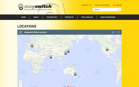 Screenshot of Locations Page magswitch.com.au - Locations - Magswitch - captured Feb. 4, 2016