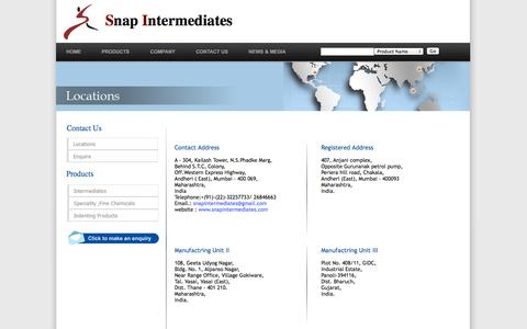 Screenshot of Contact Page Locations Page snapintermediates.com - Snap Intermediates-Locations - captured Oct. 26, 2014