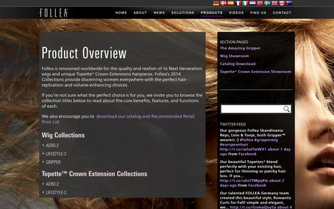 Screenshot of Products Page follea.com - Product Overview | FOLLEA - captured Nov. 3, 2014