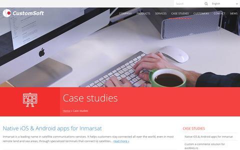 Screenshot of Case Studies Page customsoft.ro - Case studies - CustomSoft - captured Oct. 6, 2016