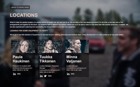 Screenshot of Locations Page blockbustersgang.com - Locations - Blockbusters Gang - captured June 1, 2017