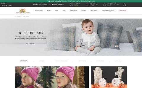 Screenshot of Blog childrensalon.com - Tiny Times - Baby & Kids Fashion Blog by Childrensalon | Childrensalon - captured Nov. 6, 2017