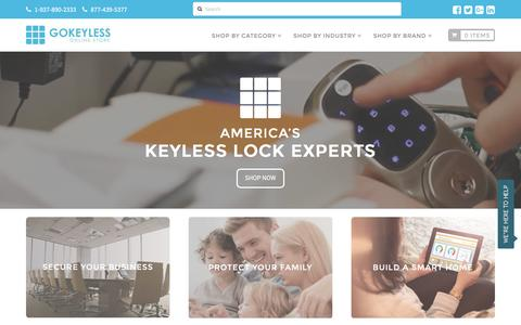 Screenshot of Home Page gokeyless.com - America's Keyless Entry Lock Experts | GoKeyless - captured Aug. 4, 2016