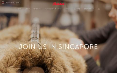 Screenshot of Jobs Page bata.com.sg - Bata   Quality Shoes and Bags for Women, Men and Kids Since 1894 - captured Nov. 22, 2016
