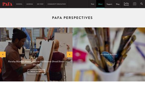 Screenshot of Blog pafa.org - PAFA Perspectives | PAFA Perspectives - captured June 28, 2017