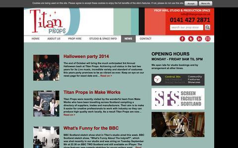 Screenshot of Press Page titanprops.co.uk - News Archives - Titan Props - captured Nov. 5, 2014