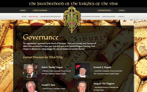 Screenshot of Team Page kov.org - Governance - captured Oct. 5, 2014