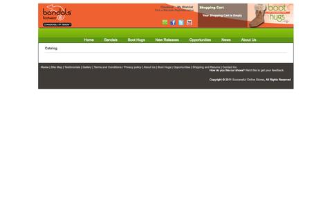 Screenshot of Site Map Page bandals.com - Bandals Footwear | Changeable by Design - captured Oct. 5, 2014