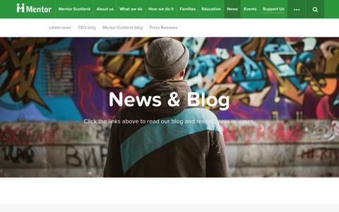 Screenshot of Press Page mentoruk.org.uk - News & Blog – Mentor UK - captured Oct. 18, 2017