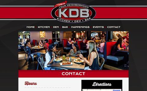 Screenshot of Contact Page kdbeaston.com - Contact - KDB Easton - captured Jan. 9, 2016
