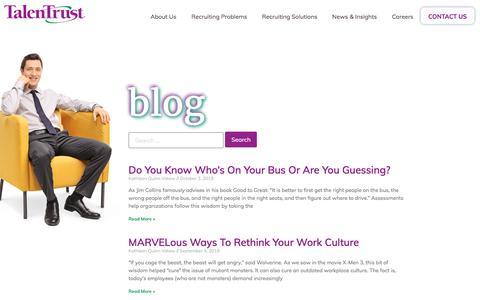 Screenshot of Blog talentrust.com - TalenTrust: Blog - captured Oct. 11, 2019