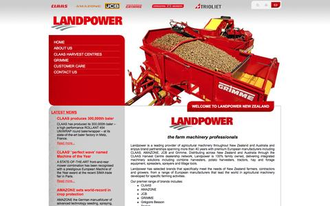 Screenshot of Home Page Site Map Page landpower.co.nz - Welcome to Landpower New Zealand - captured July 11, 2016