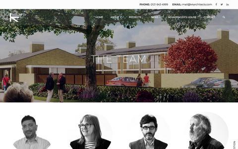 Screenshot of Team Page k4architects.com - Meet The Team   K4 Architects Birmingham   Urban Design - captured Sept. 20, 2018