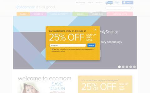 Screenshot of Home Page ecomom.com - ecomom.com |  Welcome to ecomom.com - captured Sept. 15, 2014