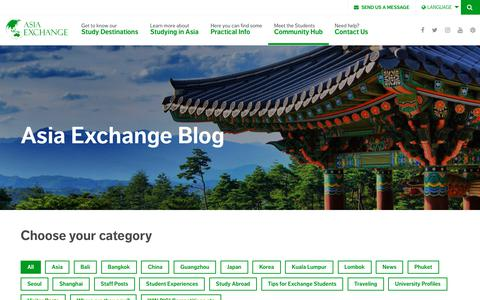 Screenshot of Blog asiaexchange.org - Official Blog - Students experiences - Asia Exchange - captured Oct. 8, 2017