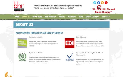 Screenshot of About Page basichumanrights.org.uk - About Us - captured Sept. 30, 2014