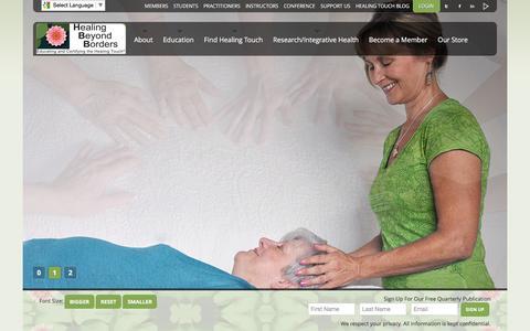 Screenshot of Home Page healingbeyondborders.com - Healing Beyond Borders - Healing Beyond Borders - captured May 16, 2017