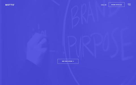Screenshot of Home Page wearemotto.com - Motto | Branding Agency | New York | Dallas | Fortune Favors the Bold - captured June 20, 2019