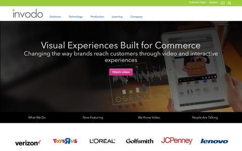 Screenshot of Home Page invodo.com - Home - Invodo Visual Commerce Solution - Invodo - captured Oct. 1, 2015