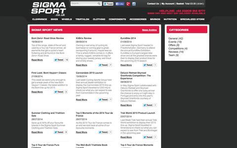 Screenshot of Blog sigmasport.co.uk - Sigma Sport News - captured Sept. 23, 2014