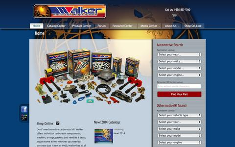 Screenshot of Home Page walkerproducts.com - Walker Products - captured Oct. 8, 2014