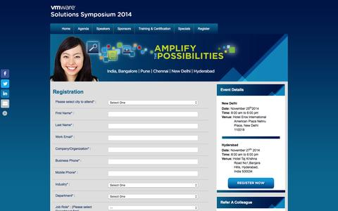Screenshot of Landing Page vmware.com - VMware Solution Symposium 2014 - captured Feb. 11, 2016