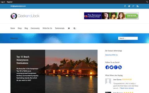 Screenshot of Site Map Page geekandjock.com - Sitemap for GeekandJock - Check out our Full Content List - captured Nov. 2, 2014
