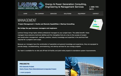 Screenshot of Team Page laminarenergy.com - Energy & Power Generation - Management - captured Sept. 26, 2018