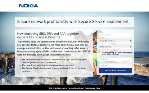 Screenshot of Landing Page nokia.com - Nokia - captured Sept. 23, 2017
