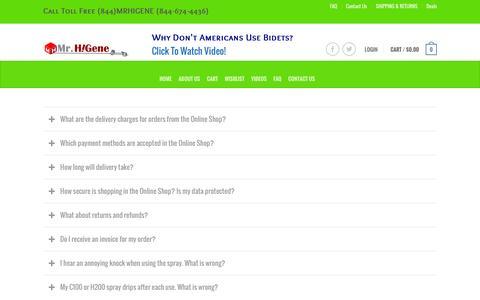 Screenshot of FAQ Page mrhigene.com - FAQ - MrHiGene.Com - captured March 16, 2016