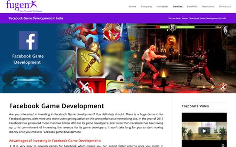 Facebook Game Development Company in Bangalore India - Hire Facebook Developers