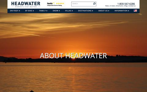 Screenshot of About Page headwater.com - About Headwater Holidays - captured July 25, 2017