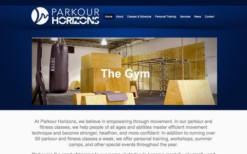 Screenshot of Home Page parkourhorizons.org - Parkour Horizons   Columbus, Ohio - captured Dec. 7, 2015