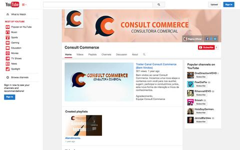 Screenshot of YouTube Page youtube.com - Consult Commerce  - YouTube - captured Oct. 22, 2014