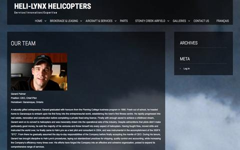 Screenshot of Team Page helilynx.com - Our Team | Heli-Lynx Helicopters - captured Jan. 28, 2016