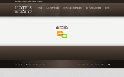 Screenshot of Support Page hotelsunlimited.com - Support | Hotels Unlimited Inc - captured Jan. 22, 2016
