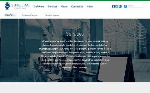 Screenshot of Services Page sincera.net - Services - Sincera Consulting - captured Nov. 30, 2016