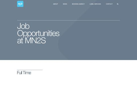 Screenshot of Jobs Page mn2s.com - Jobs | MN2S | enquire about job opportunities or internships - captured Oct. 29, 2014
