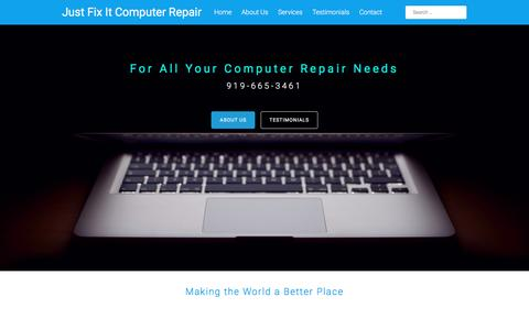 Screenshot of Home Page justfixitcomputerrepair.com - Just Fix It Computer Repair - captured Jan. 9, 2016