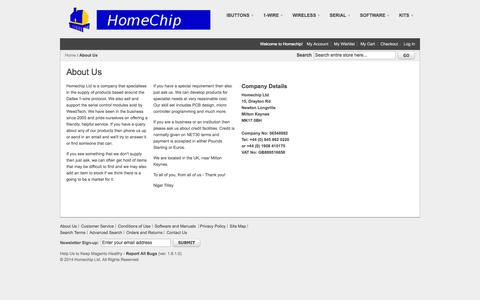 Screenshot of About Page homechip.com - About Us - captured Oct. 3, 2014