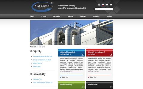 Screenshot of Home Page Site Map Page mmgroup.cz - MM GROUP, s.r.o. - Ostrava - Radvanice | výrobce zařízení pro prostředí s nebezpečím výbuchu - captured Nov. 19, 2016